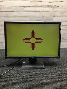 Used Acer V223W 22'' LCD Monitor w/, Power Cord, Stand - Tested