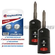 2 Keyless Entry Remote Car Flip Key Fob for Mazda MPV MX-5 Miata OUCG8D-335A-A