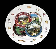 "Rosanna Specialty Cheeses Labels & Wine 11-3/4"" Plate Platter Italy Unique Used"