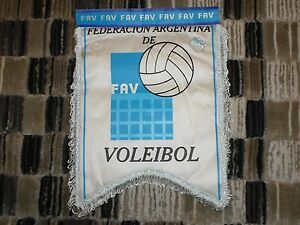 Argentina Volleyball Fed 2002 World champ badge pennant streamer fanion wimpel