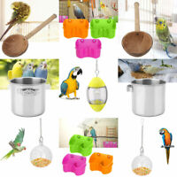 Safe Bird Cage Food Water Feeder Bowl Cups Food Supplies Container Accessories