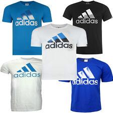 BRAND NEW ADIDAS TEE SHIRT ADULTS QQR PERFORMANCE T-SHIRT BLACK WHI BLUE