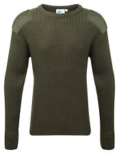 Castle Clothing 120 Crew Neck Combat Jumper Olive Green Size Large