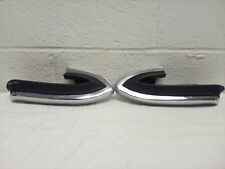 1963 Oldsmobile 88/98 Bumper Corner Rubbers and Chrome Extensions OEM