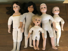 Doll Parts Lot 5 Porcelain Dolls for Crafts or Repair