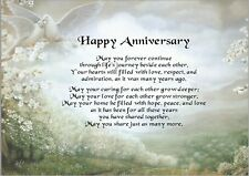 ANNIVERSARY Personalised Verse Sentimental Gift - Any Anniversary
