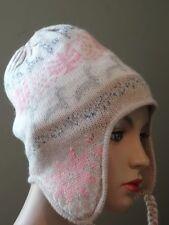 New  Fine Alpaca  Wool Hat Chullo Ski  PERUVIAN -Peru   Women's S/M