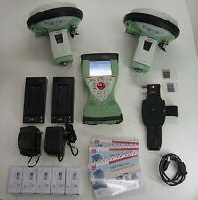 LEICA GS15 GPS GNSS RTK BASE AND ROVER KIT W/ CS15 FIELDCONTROLLER 1 M WARRANT