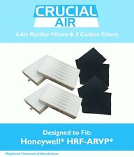 4 REPL Honeywell R Air Purifier Filters & 2 A Carbon Filter Kit Part # HRF-ARVP