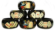Six Ronds Serviettes - Cartes de Jeux Artisanat russe Ronds Serviettes