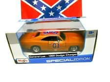 1/25 Scale Barn Find Dukes of Hazzard General Lee Diecast '69 Dodge Charger Car
