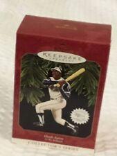 Hallmark Keepsake Ornament 1997 #2 Collector's Series Hank Aaron at the Ballpark