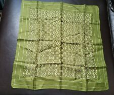Small Green Echo Square 100 % Silk scarf made in Japan