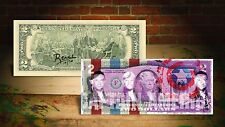 DEREK JETER CAPTAIN AMERICA PURPLE by RENCY Art Signed Giclee on $2 Bill Banksy