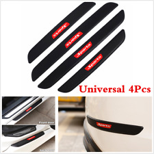 4PCS Car Bumper Door Sill Scuff Cover Welcome Step Panel Protector Black Rubber