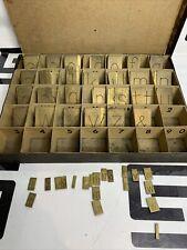 Gorton Machine Brass Letters Font Engraving Set 1 12 Reg Lower Case 15 1 12