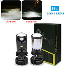 H4 LED Headlight Bulbs Hi/Lo Beam 16000LM 6500K Mini Projector Lens Replacement