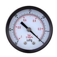 0 ~ -30inHg 0 ~ -1bar Mini esfera Monitor de presion de vacio de aire Manom E2H8