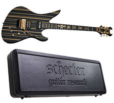 Schecter Synyster Gates Custom-S Limited Black w Gold + Sustainiac *NEW* + CASE!