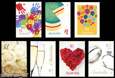 2016 Love to Celebrate - Set of 7 Self Adhesive Stamps - MUH