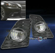 FOR 2013-2015 GS350 F-SPORT BUMPER LED FOG LIGHTS LAMPS CHROME W/BEZEL+SWITCH
