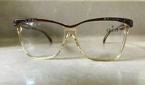 GUCCI AUTHENTIC RARE VINTAGE 80s WOMEN EYEGLASSES MOD # GG 2107 MADE IN ITALY