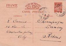 Y294 Carte Postale ENTIER POSTAL  Ecrite 0,90 IRIS oblitération de VICHY en 1941