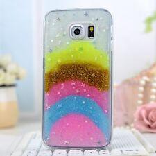 Samsung Galaxy S6 Edge Cover Cellulare Custodia Case Brillantini Arcobaleno