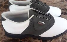Etonic Stabilites Softspikes Leather Saddle Golf Shoes Size 6.5 Black & White