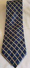 RBM Blue Yellow Print RBM 100% silk Mens Neck Tie