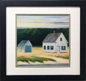 "Edward Hopper ""October on Cape Cod"" (Detail) New CUSTOM FRAMED Art Americana MA"