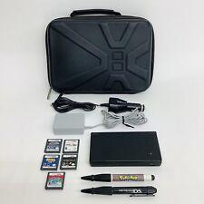 Nintendo DSi DS System Bundle 5 Games, Chargers Pokémon Mariokart, Pen & Case