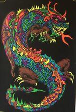 Satan's child Vintage Houston Blacklight Vintage Poster Psychedelic Dragon 1970