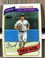 Huge Lot of 5000 Cards 1980 Topps Fred Lynn Baseball Card # 110