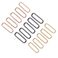 5pcs 18mm 20mm 22mm 24mm Stainless Steel Loop Ring Watch Band Strap Buckle