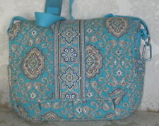 VERA BRADLEY RETIRED TOTALLY TURQUOISE LARGE TOTE/LAPTOP - EUC