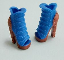Monster High Robecca Steam Doll Shoes Blue Copper High Heels