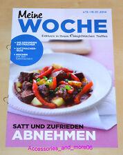 Weight Watchers Meine Woche 12.1 - 18.1 ProPoints Plan 2014 Wochenbroschüre *NEU