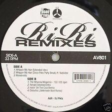 Rihanna Ri Ri Remixes on AV8 Records Megamix Disturbia Vinyl Record
