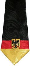 GERMANY FLAG NECKTIE TIE BERLIN GERMAN COUNTRY EAST AND WEST BLACK EGALE