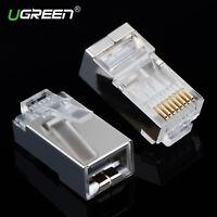 UGREEN 10pcs RJ45 Network Cable Modular Plug CAT6 8P8C Ethernet Connector End