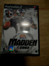PLAY STATION 2 -EA SPORTS MADDEN NFL 2002--GAME + CASE