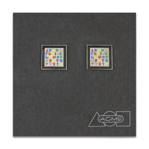 "Vintage ACME Studio ""Alphabet"" Cufflinks by Massimo Vignelli NEW"