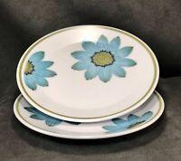 "Two Noritake Progression Up Sa Daisy 6.25"" Bread Plates Mid Century Modern Japan"