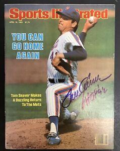 Tom Seaver Signed Sports Illustrated Magazine NO Label JSA 4/18/83 HOF Inscript