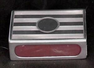 Solid Silver Matchbox Cover Dates 1938 A & J Zimmerman