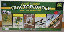 JOHN DEERE MONOPOLY TRACTOR-OPOLY COLLECTOR'S EDITION BOARD GAME, NEW, SEALED!