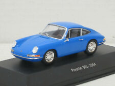 Porsche 901 in himmelblau, 1964, ohne OVP +  Vitrine, IXO / Atlas, 1:43