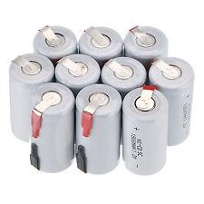 12 X Ni-Cd 1800mAh 1.2V  Sub C SC Rechargeable Battery NiCd Batteries -White