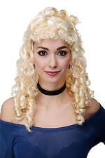 Perücke Fasching Karneval Biedermeier Renaissance Korkenzieherlocken Blond RJ049